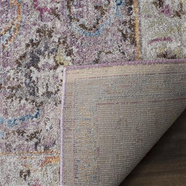 Safavieh Bristol Lavender and Light Grey Area Rug,BTL357P-5