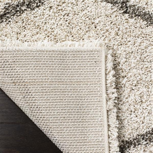 Safavieh Hudson Shag Ivory and Grey Area Rug,SGH280A-6