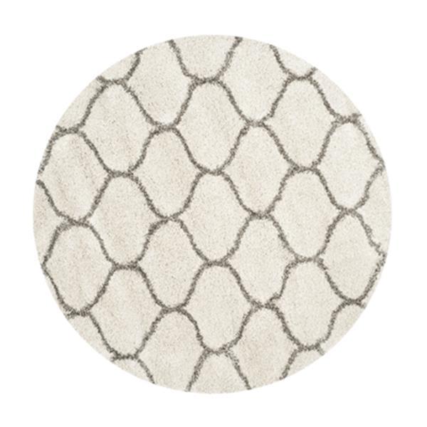 Safavieh Hudson Shag Ivory and Grey Area Rug,SGH280A-7R