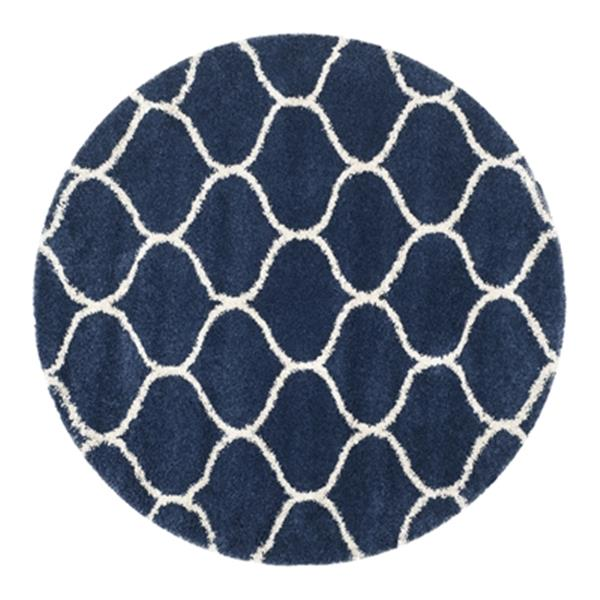 Safavieh Hudson Shag Navy and Ivory Area Rug,SGH280C-7R