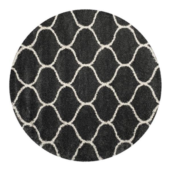 Safavieh Hudson Shag Dark Grey and Ivory Area Rug,SGH280G-7R