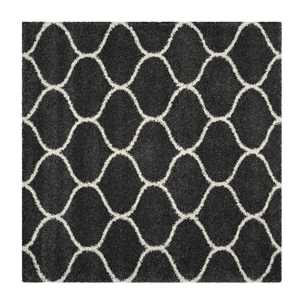 Safavieh Hudson Shag Dark Grey and Ivory Area Rug,SGH280G-7S