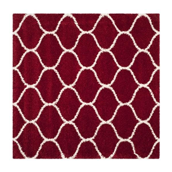 Safavieh Hudson Shag Red and Ivory Area Rug,SGH280R-7SQ