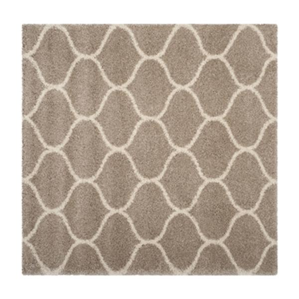 Safavieh Hudson Shag Beige and Ivory Area Rug,SGH280S-7SQ