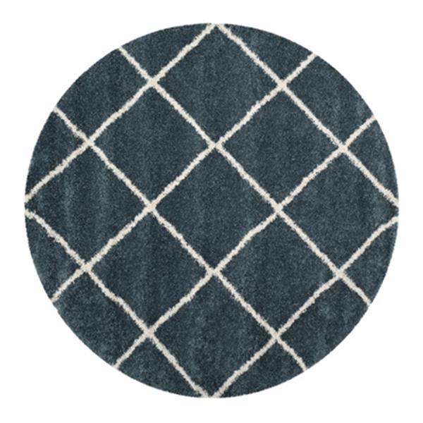 Safavieh Hudson Shag Slate Blue and Ivory Area Rug,SGH281L-7