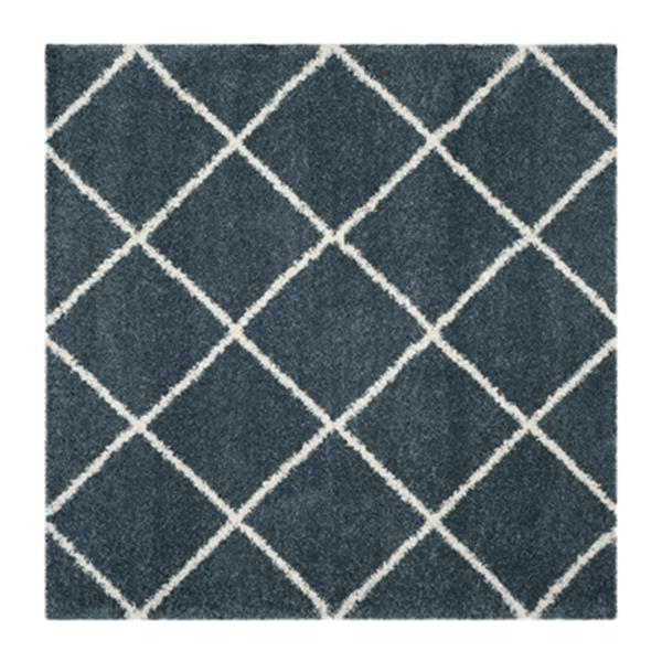 Safavieh Hudson Shag Slate Blue and Ivory Area Rug,SGH281L-7