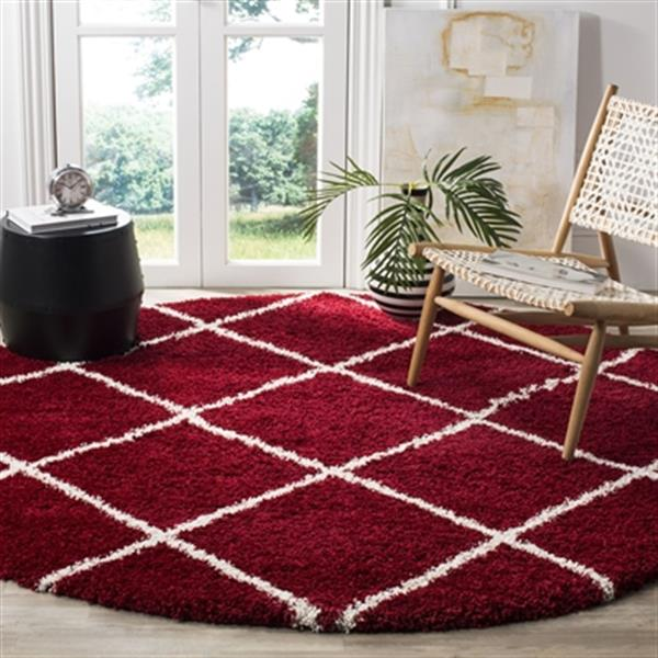 Safavieh Hudson Shag Red and Ivory Area Rug,SGH281R-7R