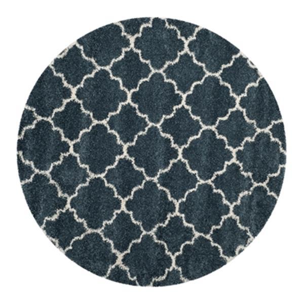 Safavieh Hudson Shag Slate Blue and Ivory Area Rug,SGH282L-7