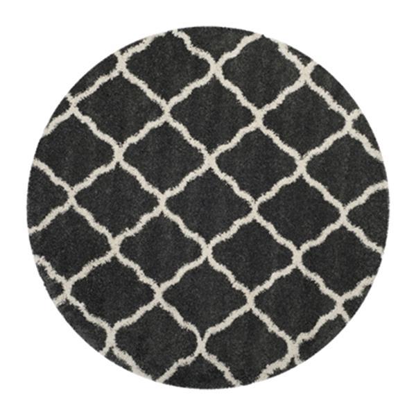 Safavieh Hudson Shag Dark Grey and Ivory Area Rug,SGH283G-7R