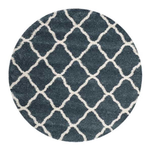 Safavieh Hudson Shag Slate Blue and Ivory Area Rug,SGH283L-7