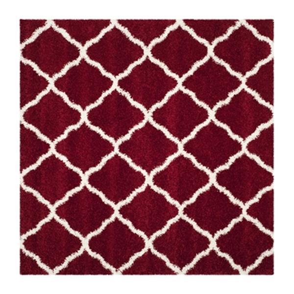 Safavieh Hudson Shag Red and Ivory Area Rug,SGH283R-7SQ