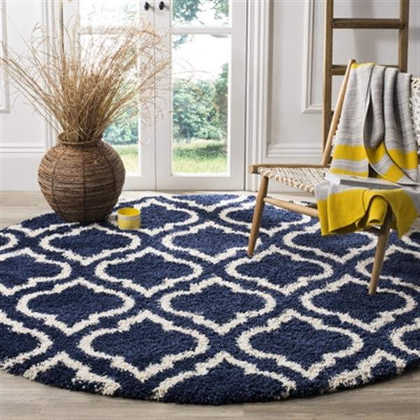Safavieh Hudson Shag Navy and Ivory Area Rug,SGH284C-7R