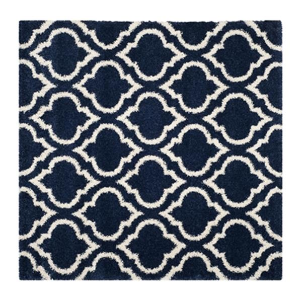 Safavieh Hudson Shag Navy and Ivory Area Rug,SGH284C-7SQ