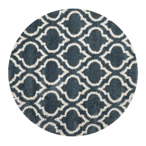 Safavieh Hudson Shag Slate Blue and Ivory Area Rug,SGH284L-7