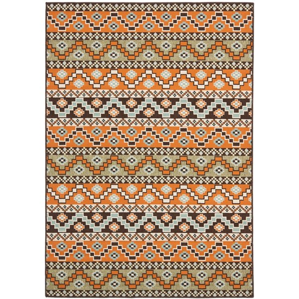 Safavieh Veranda 8-ft x 11-ft Brown Geometric Indoor/Outdoor Area Rug