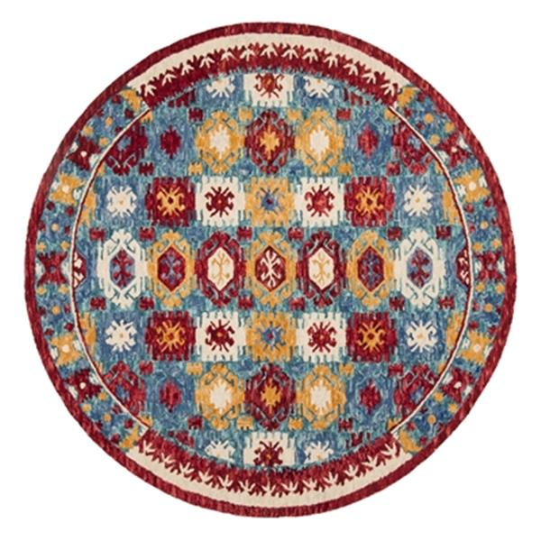 Safavieh Aspen Blue and Red Hand Tufted Area Rug,APN505A-7R