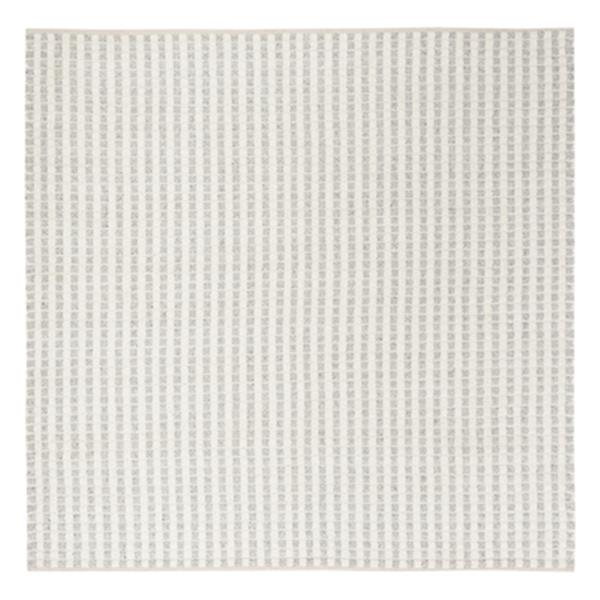 Safavieh Natura Grey and Ivory Squares and Stripes Hand Tuft