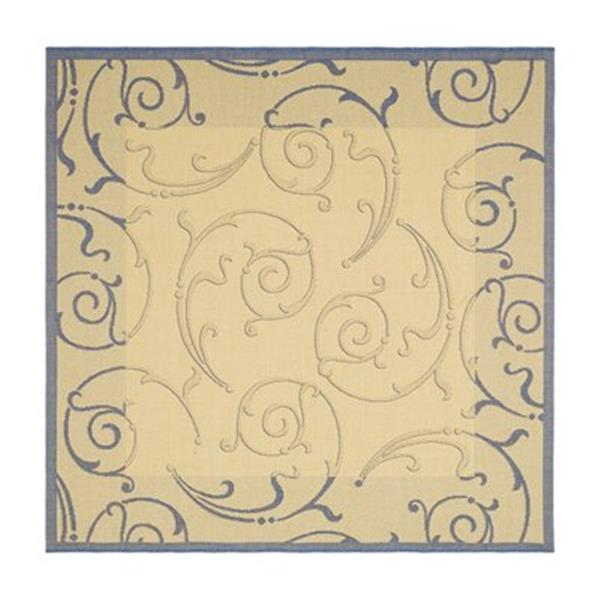 Safavieh Courtyard Blue/Cream 132-in x 94-in Indoor/Outdoor Area Rug