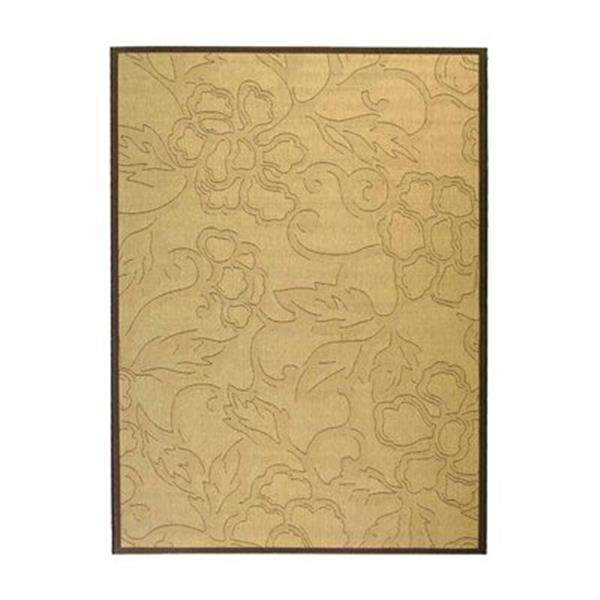 Safavieh Courtyard Gold/Cream 132-in x 94-in Indoor/Outdoor Area Rug