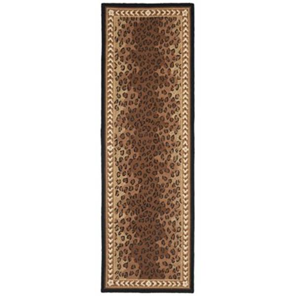 Safavieh Chelsea 30-in. Black/Brown Runner