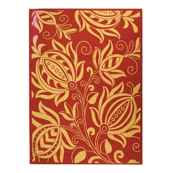 Safavieh Courtyard 11 ft x8 ft Red Area Rug