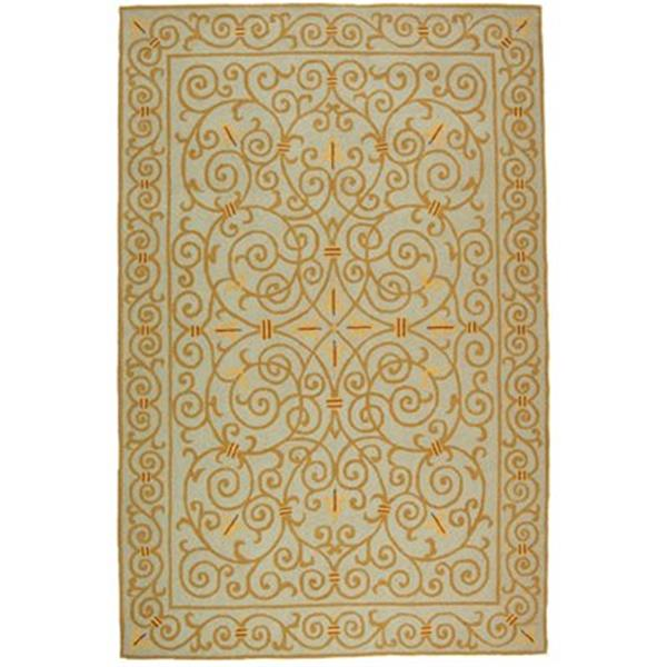Safavieh HK11L Chelsea Area Rug, Light Blue/Gold,HK11L-5
