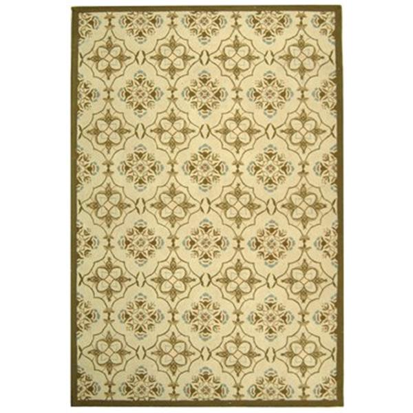 Safavieh HK376A Chelsea Area Rug, Ivory/Green,HK376A-5