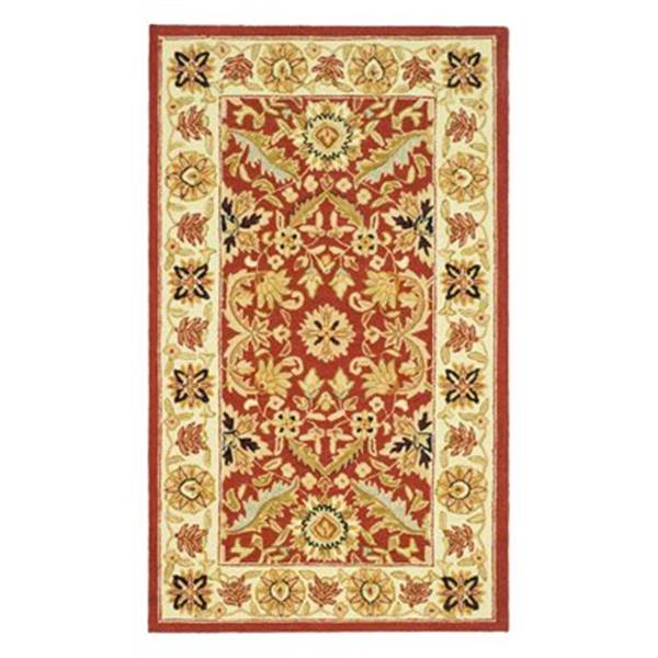 Safavieh HK157A Chelsea Area Rug, Red/Ivory,HK157A-5