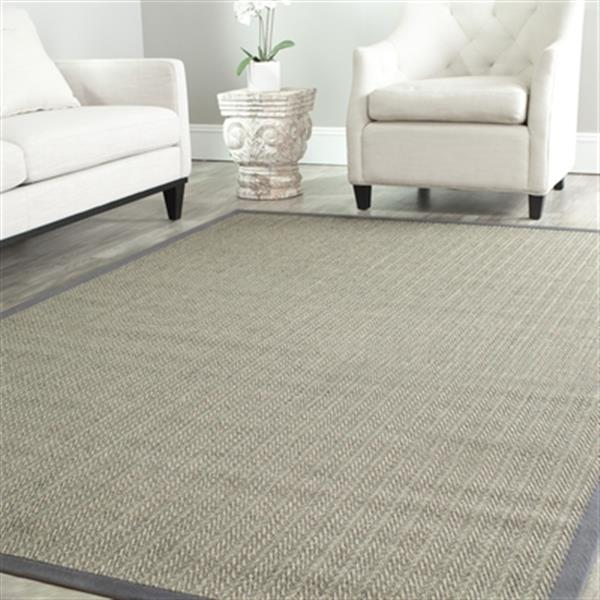 Safavieh Natural Fiber Grey and Brown Area Rug,NF444A-6