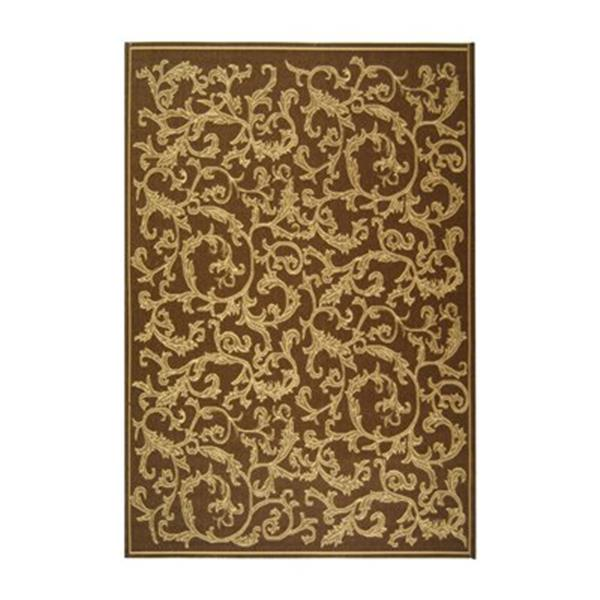 Safavieh Courtyard 132-in x 94-in Brown Indoor/Outdoor Area Rug