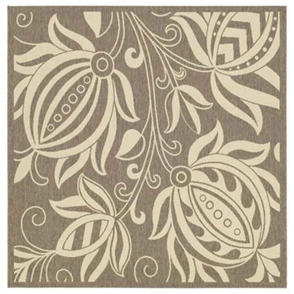 Safavieh Courtyard 11 ft x 8 ft Brown Area Rug