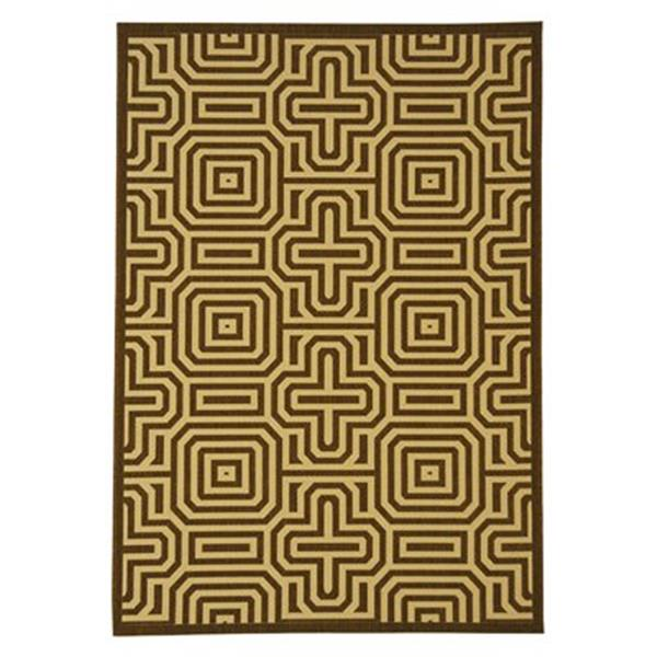 Safavieh Courtyard 11 ft x 8 ft Brown Indoor/Outdoor Area Rug