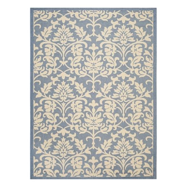 Safavieh Courtyard 11 ft x8 ft Blue Indoor/Outdoor Area Rug