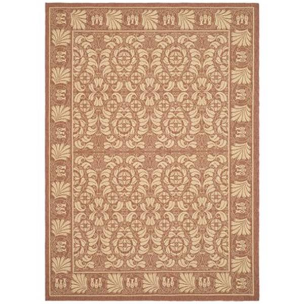 Safavieh Courtyard 11 ft x 8 ft Orange Indoor/Outdoor Area Rug