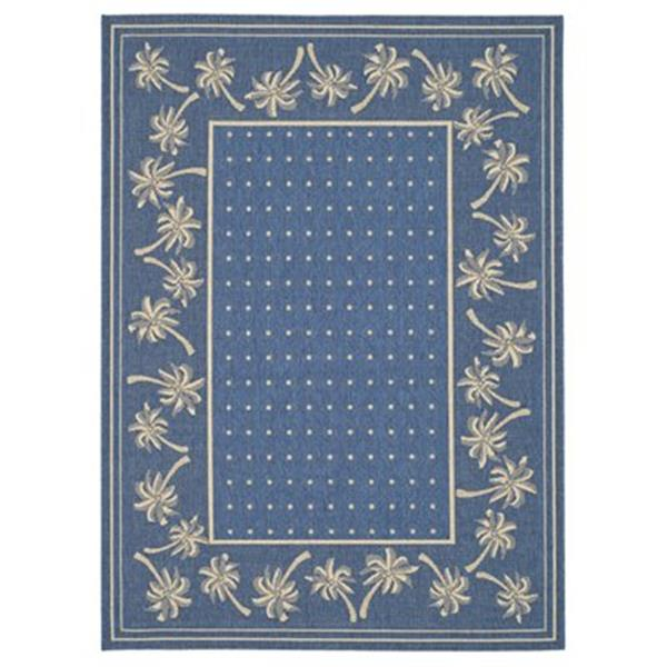 Safavieh Courtyard 11 ft x 8 ft  Blue Indoor/Outdoor Area Rug