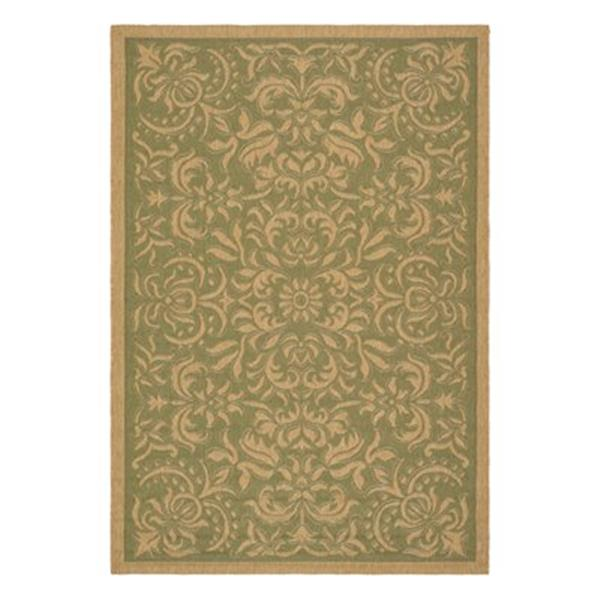 Safavieh Courtyard 134-in x 96-in Green Indoor/Outdoor Area Rug