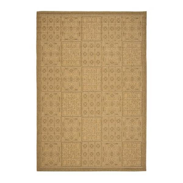 Safavieh Courtyard 134-in x 96-in Yellow Indoor/Outdoor Area Rug
