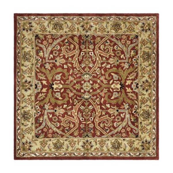 Safavieh HG644B Heritage Area Rug, Red,HG644B-6SQ