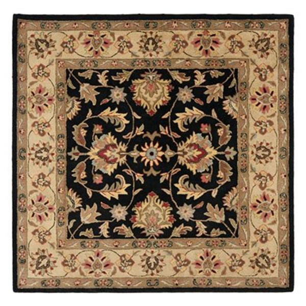 Safavieh HG957A Heritage Area Rug, Black,HG957A-6SQ