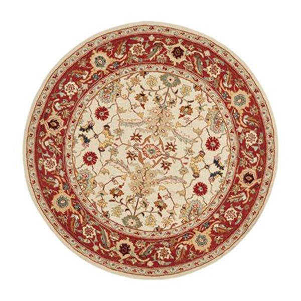 Safavieh Chelsea Ivory and Red Area Rug,HK751C-5R