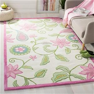 Safavieh Kids Rug 60-in. Ivory/Pink Runner