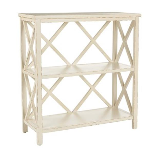Safavieh Liam American Home Distressed Ivory Open Bookcase