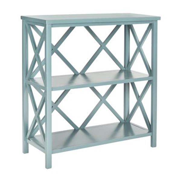 Safavieh Liam American Home Teal Open Bookcase