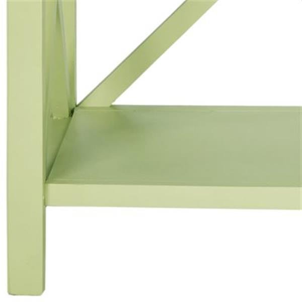 Safavieh Liam American Home Avocado Green open Bookcase