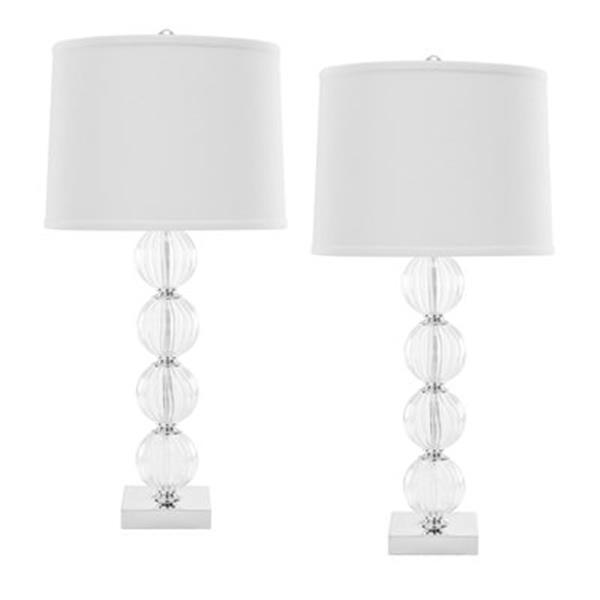 Safavieh 30-in Clear Amanda Sphere Table Lamp (Set of 2)