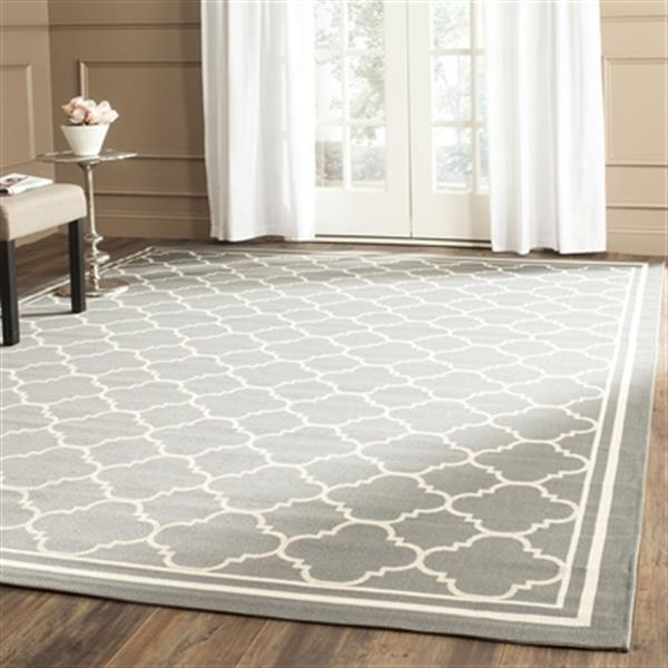 Safavieh Courtyard 134-in x 96-in Gray Indoor/Outdoor Area Rug