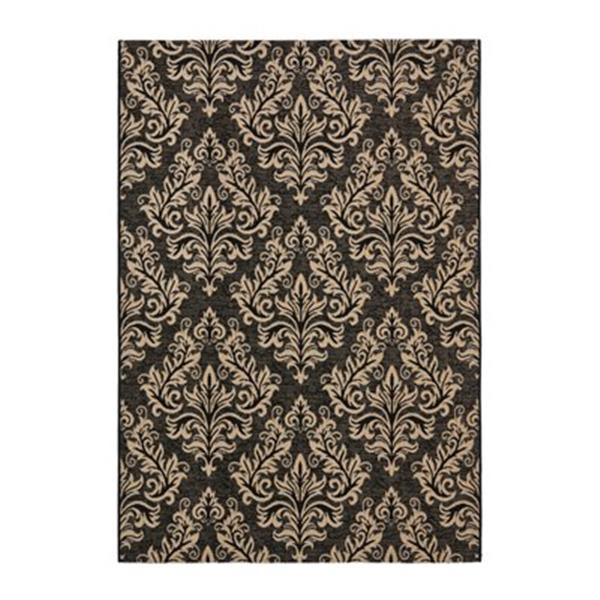 Safavieh Courtyard Area Rug 11.17-ft x 8-ft Black/Creme