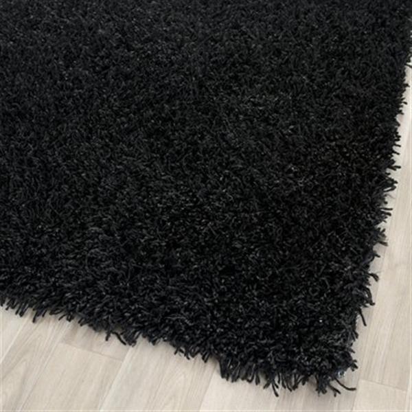 Safavieh SG851B Shag Area Rug, Black,SG851B-5