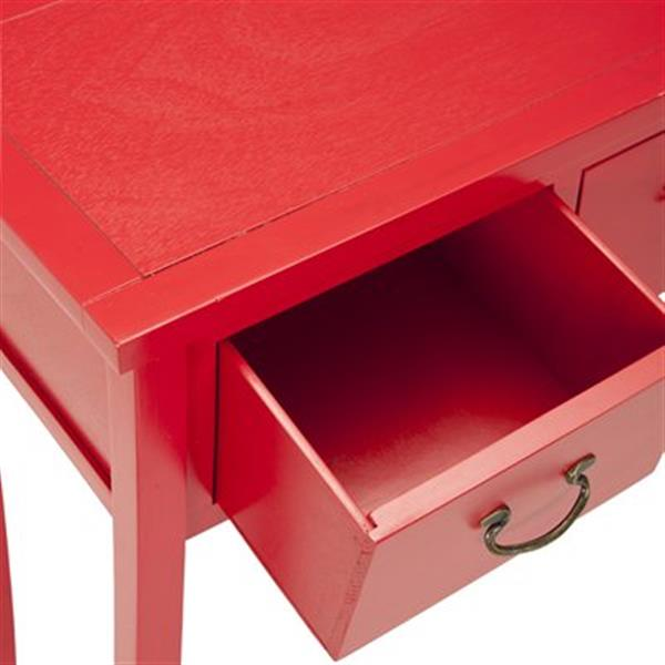 Safavieh Cindy 3-Drawer Rectangular Bright Red Console Table