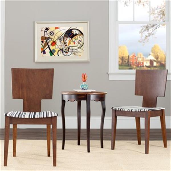 Safavieh Rick 34-in Dark Walnut Side Chairs (Set of 2)